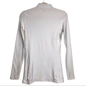 UnderArmour White Coldwear Baselayer HighNeck Shir